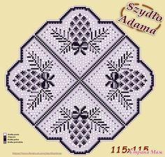 Filet Crochet Charts, Crochet Stitches, Crochet Patterns, Crochet Dollies, Crochet Lace, Cross Stitch Art, Cross Stitch Embroidery, Crochet Carpet, Crochet Winter