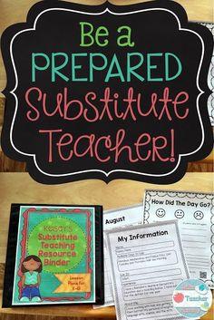 Be a Prepared Substi