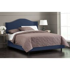 Skyline Furniture Nail Button Upholstered Panel Bed