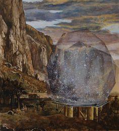 "Saatchi Art Artist Geoff Diego Litherland; Painting, ""Adjacent - Nothing Inside Something"" #art"