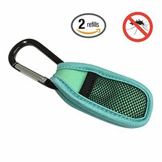 Novolix Deet Free Mosquito Repellent Clip with 2 Refills Natural Ingredients Insect Defense Key Chain *** Click image for more details.