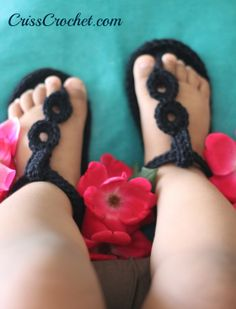 Ready fro the summer! Lovely crochet baby sandals with leather sole. Take just a few hours to make them.