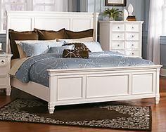 This breathtaking Somerset 4-piece queen bedroom set in alabaster ...