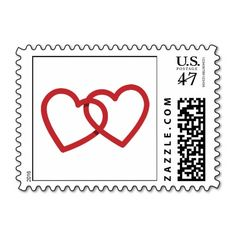 Two Hearts Love Wedding Stamps