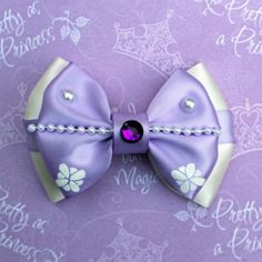 Sofia the First Inspired Bow by SmallWorldBows on Etsy, $9.00