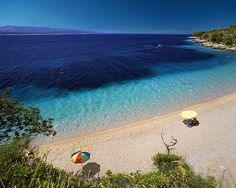 Supetar beach on island Brac, Croatia