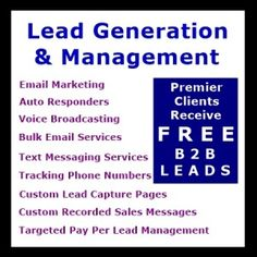 Lead Generation & Management « Best Places Advertise Free - Email Marketing, Auto Responders, Voice Broadcasting, Bulk Email Services, Text Messaging, Tracking Phone Numbers, Custom Lead Capture Pages, Custom Recorded Sales Messages, Targeted Pay Per Lead PPL Management, Google Adwords, Pay Per Click, and more… Join here: http://freedemomarketingtools.com/dap/a/?a=4260  See Video here:  http://bestlistdirectory.com/article/make-10000-from-those-who-say-no/