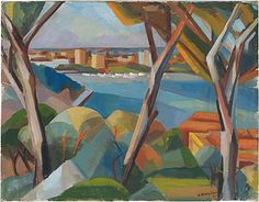 Guy Grey-Smith  Perth from King's Park  1949