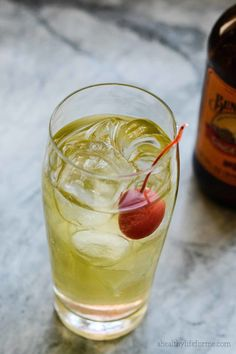 Apple Ginger Sparkle Cocktail, from A Healthy Life for Me