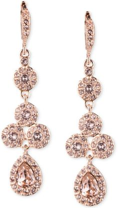 Givenchy Rose Gold Drop Earrings