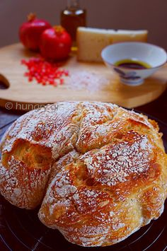 No Knead Bread, No Knead Bread Recipes Knead Bread Recipe, No Knead Bread, Bread Bun, Bread Cake, Tasty, Yummy Food, Greek Recipes, Relleno, Food Processor Recipes