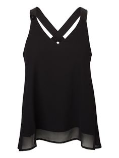 Black party top from VERO MODA. Wear this top with a pair of leather trousers for a cool party look