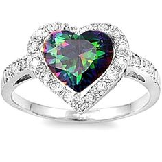 BEST SELLER! Rainbow Topaz & CZ HEART Promise LOVE .925 Sterling Silver Ring Sizes 5-10, http://www.amazon.com/dp/B00DPWPPRS/ref=cm_sw_r_pi_awdl_xWuIsb06XSXN8