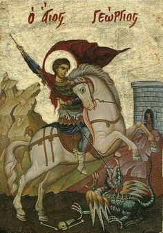 Saint George Prince of the Martyrs Religious Images, Religious Icons, Religious Art, Byzantine Icons, Byzantine Art, Hl Georg, Greek Icons, Saint George And The Dragon, Religious Paintings