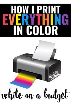 The best printing hack ever! Love what she shares about her teacher printer too! | printing tips | save ink | teaching tips | teacher tips | tips for teachers | save ink cartridges | teaching hacks | teacher printables | printable worksheets | #printale