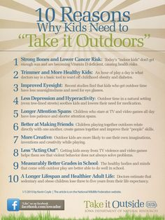 """10 Reasons why kids need to """"Take it Outdoors"""". What better place to do that, than at summer camp!"""