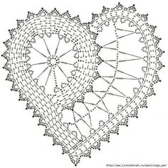 Ideas Crochet Heart Doily Pattern For 2019 Filet Crochet, Beau Crochet, Crochet Diagram, Crochet Chart, Thread Crochet, Crochet Motif, Crochet Designs, Freeform Crochet, Crochet Doilies