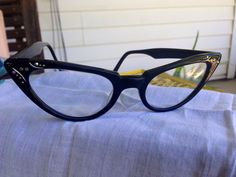 38f5d018c07a Items similar to Black Cat Eye Women s eye glasses Frames on Etsy