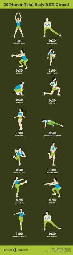 20 Min Total Body HIIT workout | Posted By: AdvancedWeightLossTips.com