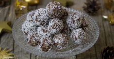 Rum Balls Recipe by Niru Gupta Chocolate Treats, Chocolate Truffles, Coconut Chocolate, Orange Balls Recipe, Easy No Bake Desserts, Dessert Recipes, Baking Recipes, Afternoon Tea, Coconut Date Balls