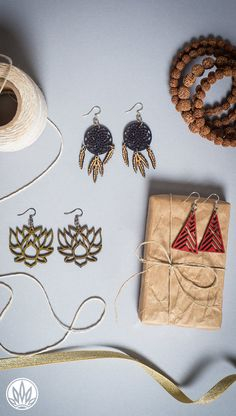 Eco-Friendly Jewelry | Fair Trade Jewelry | Ethical Jewelry | Wooden Earrings | Hippie Jewelry | Boho Style | Soul Flower Clothing