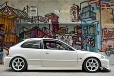 Honda Civic EK by Emilio Ciccarelli Tuner Cars, Jdm Cars, Civic Eg, Honda Civic Hatchback, Riders On The Storm, Honda Ridgeline, Automobile, Honda Cars, Unique Cars