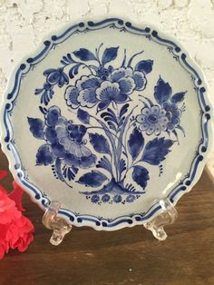 1951 Royal Delft Plate Delfts Blauw by GuamAntiquesNstuff on Etsy