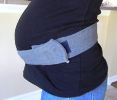Another DIY Maternity Support Belt . . looks a little easier to make, but less flexible.  Might Try this first.