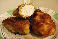 Fried chicken fillet in breadcrumbs