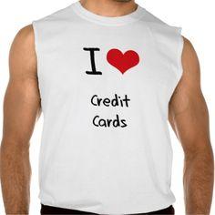 I love Credit Cards Sleeveless Shirts Tank Tops
