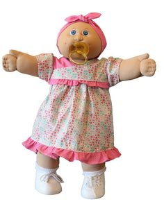 """Diana's Patch - Custom Cabbage Patch Kids and Clothing: Kimono Style Dress Pattern for 16"""" Cabbage Patch Kids Kimono Style Dress, Kimono Fashion, Fashion Dresses, Cabbage Patch Kids Clothes, Hook And Loop Tape, Pretty Dolls, Rolled Hem, Different Fabrics, Doll Clothes"""