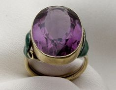 Antique Amethyst Cocktail Ring | Isadora's