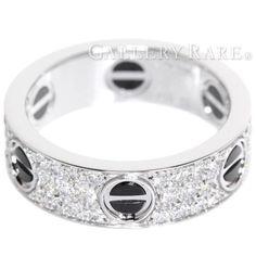 カルティエ リング ラブリング パヴェダイヤ ダイヤモンド 0.74ct K18WGホワイトゴールド セラミック リングサイズ59 B4207600 Cartier 指輪 ジュエリー ダイアモンド メンズ