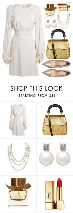 """attending fall wedding reception"" by ayiarundhati ❤ liked on Polyvore featuring Chloé, Burberry, Chanel and Yves Saint Laurent"