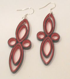 Red+and+Black+Paper+Earrings+2F+-+$8.00