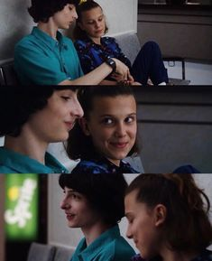 this scene made me blush inside💕 Stranger Things Aesthetic, Stranger Things Season 3, Cast Stranger Things, Stranger Things Netflix, Series Movies, Tv Series, Film Serie, Bobby Brown, Couple Goals