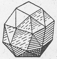 Kepler's drawing of a polyhedron made of triangles and squares