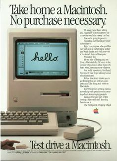 """when it came on, it said """"welcome to macintosh"""" - yes please steve 