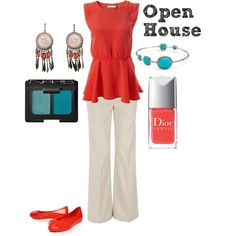 Open House, created by deltagammacj on Polyvore