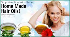 Homemade Hair Oil To Stop Hair Loss & Various Hair Problems! - You Can Quit Now Male Pattern Baldness, Stop Hair Loss, Hair Remedies, Hair Raising, How To Make Hair, About Hair, Hair Oil, Fall Hair, Side Effects