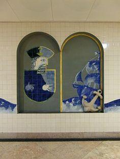 António Costa Pinheiro   Estação / Station Alameda   Metropolitano de Lisboa / Lisbon Underground   1998 #Azulejo #CostaPinheiro #MetroDeLisboa