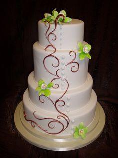 Beautiful Wedding Cakes Fondant Wedding Cakecopper Swirls | New Inspiration for Amazing Wedding Celebration