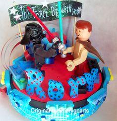 Lego theme Birthday Cake topper www.kharygoart.com