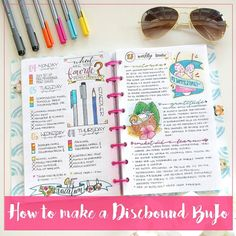 [7/100] If you want to put together a discbound notebook like mine, make sure to check out my new blog post. In it I talk about what supplies you need to make one and where to get it.  Also, I spoke with the incredibly talented Jane from @janesagenda and she is offering a 15% discound on her dicsbound notebook covers. The code is NICOLE15 and it expires on August 31st. So make sure to grab one of her awesome covers ❤ #100daysofproductivity #bujo #bulletjournal #bulletjournaling…