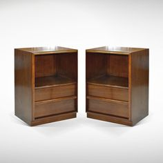 Classic Walnut Nightstands by T.H. Robsjohn-Gibbings | From a unique collection of antique and modern night stands at www.1stdibs.com/...