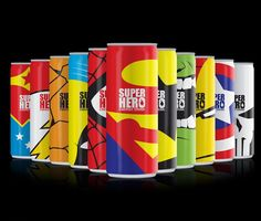 SuperHero Energy Drink (Concept) on Packaging of the World - Creative Package Design Gallery