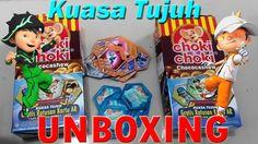 UNBOXING #19 Choki choki ar BoBoiBoy terbaru Kuasa Tujuh 40 Kad Gamecard...