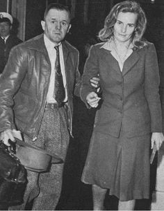 Frances being escorted into the Santa Monica Police Department, 1943