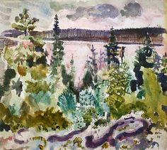 """West Point, Maine"" 1914 , John Marin"