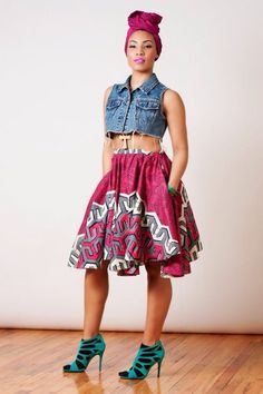 What I'd Wear : The Outfit Database (source : Nakimuli Curvy ) African Inspired Fashion, African Print Fashion, Africa Fashion, Ethnic Fashion, Look Fashion, Fashion Prints, Womens Fashion, African Prints, Fashion Styles